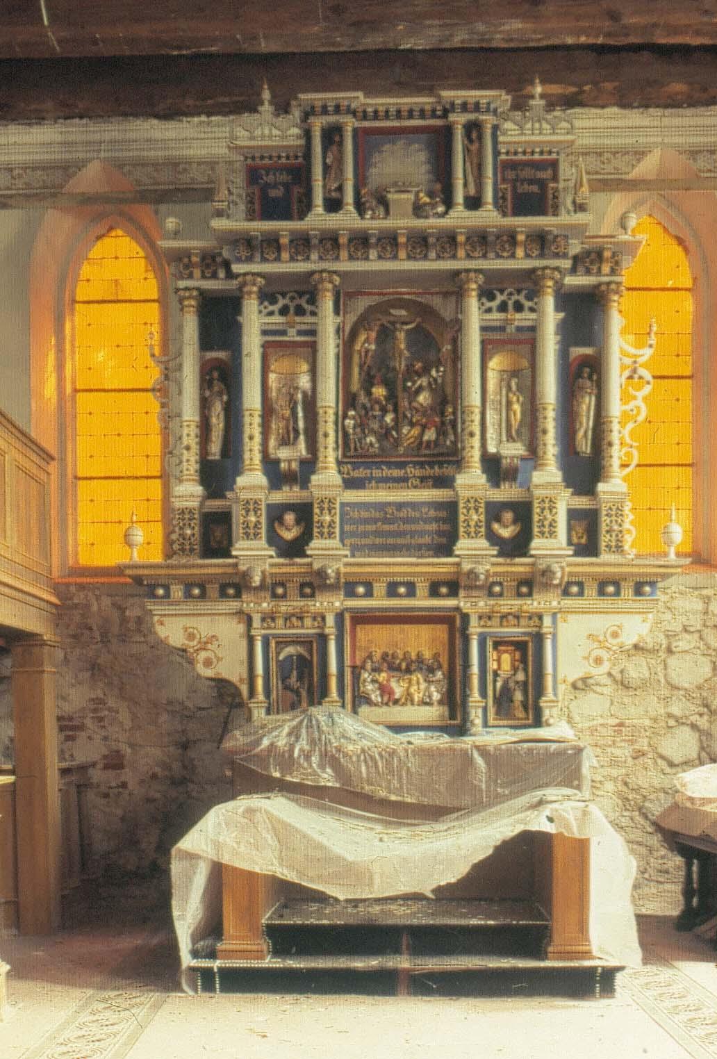 Dorfkirche Blindow - Altaraufsatz