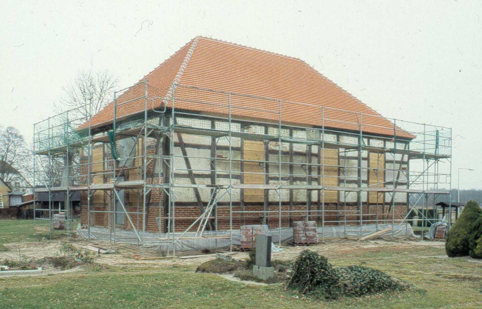 Die Fachwerkkirche von Roddahn war schon aufgegeben worden