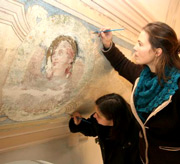 Wandmalerei in der Philippstaler Kirche